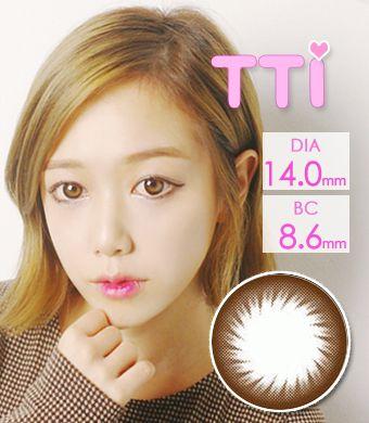 【1年カラコン】 TTI Brown / 209</BR>DIA:14.0mm, 度あり‐8.00まで