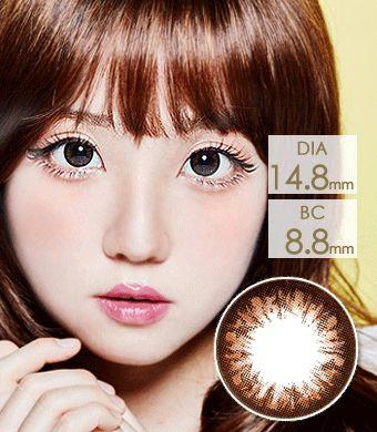 【6ヶ月カラコン】 グラングラン  Choco / 017</BR>DIA:14.8mm, 度あり‐8.00まで