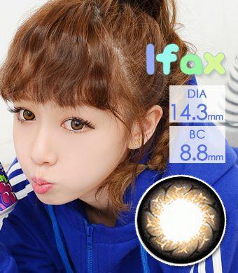 【1年カラコン】Ifax(Y10) Brown / 131</BR>DIA:14.3mm, 度あり‐10.00まで