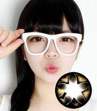 "<FONT COLOR=""4697f2""> [Lucky ¥500]</FONT>【1年カラコン】Secret big star(CF) Brown / 072</BR>DIA:14.5mm, 度なし"