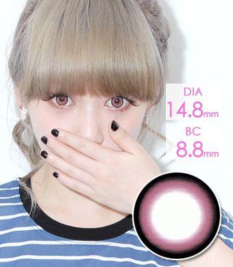【1年カラコン】 WI-A27 Pink / 007</BR>DIA:14.8mm, 度なし