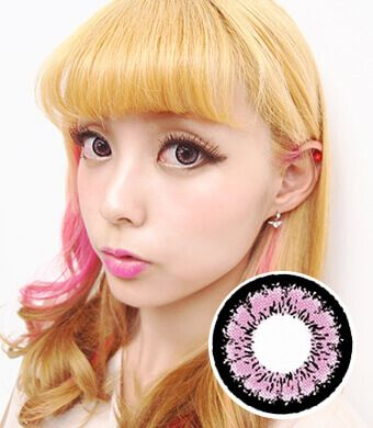 【1年カラコン】 Emily(X4) Pink / 170</BR>DIA:14.5mm, 度なし
