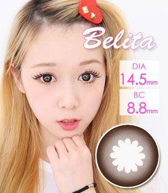 【1年カラコン】Belita(M101) Choco brown / 070</BR>DIA:14.5mm, 度あり‐10.00まで