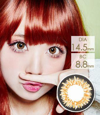 【1年カラコン】Coco 3-tone color Brown / 151</BR>DIA:14.5mm, 度あり‐10.00まで
