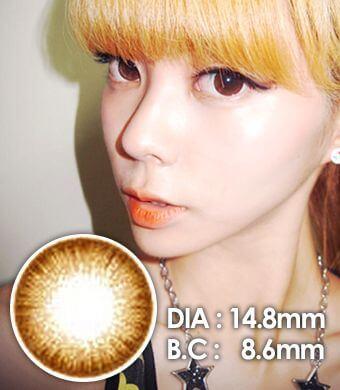 【1年カラコン】Jewelry Brown / 060</BR>DIA:14.8mm, 度あり‐8.00まで