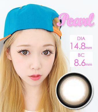 【1年カラコン】 Pearl A Brown / 066</BR>DIA:14.8mm, 度あり‐8.00まで