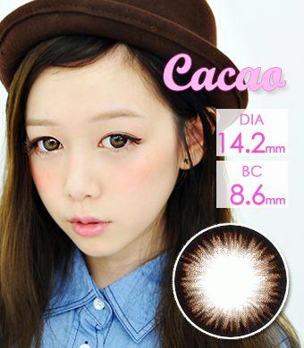 【1年カラコン】 Cacao Brown / 043</BR>DIA:14.2mm, 度あり‐8.00まで