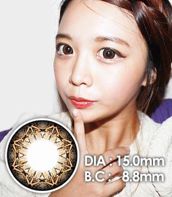 【1年カラコン】 K7 Brown  / 229</BR>DIA:15.0mm, 度なし