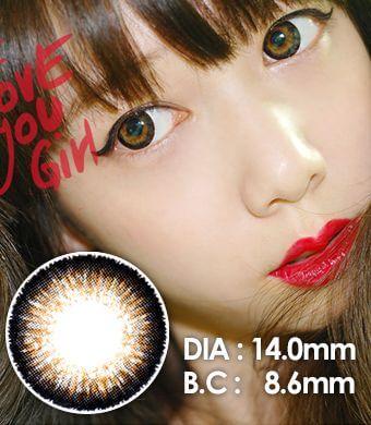 【1年カラコン】Top Plus Brown / 038</BR>DIA:14.0mm, 度あり‐8.00まで