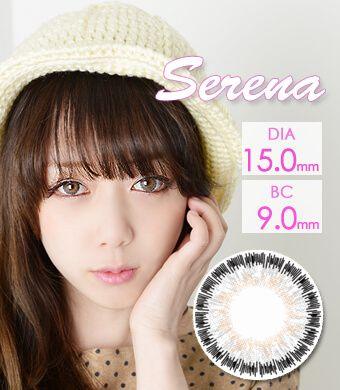 【1年カラコン】Serena Gray / 244</BR>DIA:15.0mm, 度あり‐10.00まで