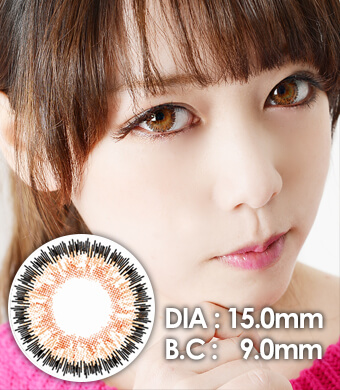 """<FONT COLOR=""""4697f2""""> [Lucky ¥990]</FONT>【1年カラコン】Serena Brown / 245</BR>DIA:15.0mm, 度あり‐10.00まで"""