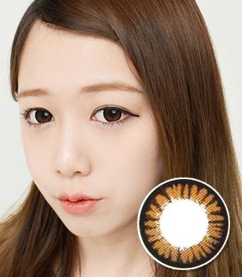 【乱視/6-12ヶ月カラコン】Cara Brown Toric / 520</br>  DIA:14.0mm, G.DIA:13.5mm
