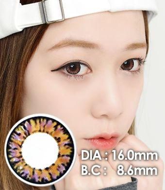 【1年カラコン】Ic4 Super Pinky Brown / 630</BR>DIA:16.0mm, 度あり‐8.00まで