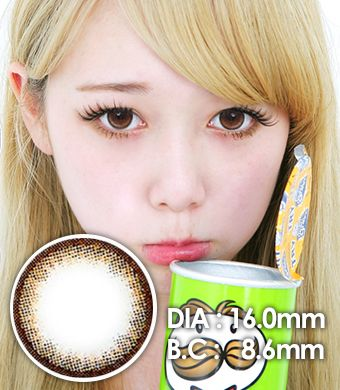 【1年カラコン】VASSEN Eva Original EO Brown / 616</BR>DIA:16.0mm, 度あり‐8.00まで