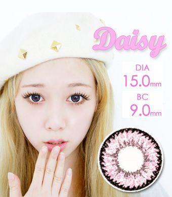 【1年カラコン】Daisy K17 Pink / 714</BR>DIA:15.0mm, 度あり‐10.00まで