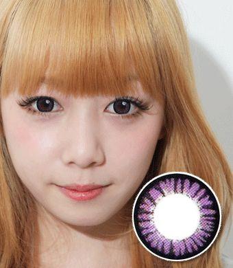 【遠視/12ヶ月カラコン】 Cara violet / 1322 </br> DIA:14.0mm, 度あり+8.00まで