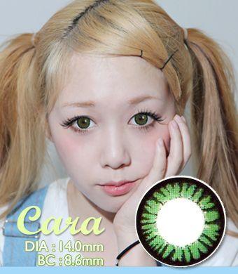 【遠視/12ヶ月カラコン】 Cara green / 1319 </br> DIA:14.0mm, 度あり+8.00まで