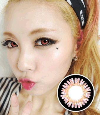 【6-12ヶ月カラコン】Sweet 3 Pink / 668</BR>DIA:14.8mm, 度あり‐8.00まで