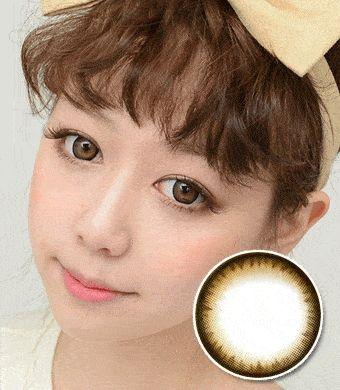 【6ヶ月カラコン】Pearl B natural Brown / 276</BR>DIA:14.4mm, 度あり‐12.00まで