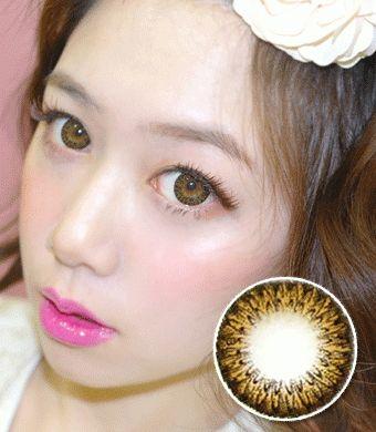 【1年カラコン】Pinkie Brown(JN1) / 1011 </br> DIA:14.5mm,度あり‐8.00まで
