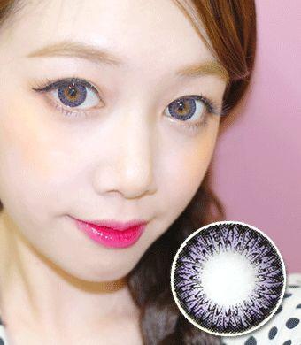 【1年カラコン】Pinkie Violet(JN1) / 1015 </br> DIA:14.5mm, 度なし