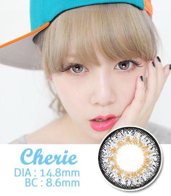 【1年カラコン】Cherie Gray / 659</BR>DIA:14.8mm, 度あり‐8.00まで