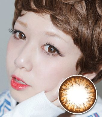 【乱視/12ヶ月カラコン】HC-244 brown toric  / 1092</br> DIA:14.0mm, G.DIA:13.7mm
