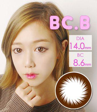 【乱視/12ヶ月カラコン】BC-102 brown toric / 1096 </br> DIA:14.0mm, G.DIA:13.4mm