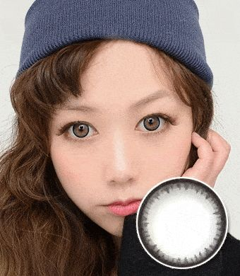 【遠視/6ヶ月カラコン】Pearl B natural gray / 1132</br>DIA:14.0mm, 度あり+8.00まで