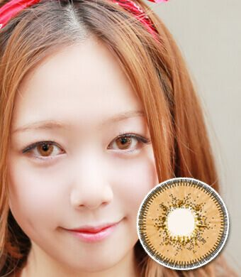 【6ヶ月カラコン】Inno Color 3-Tone Luxury (Big) Hazel / 1135 </BR>DIA:14.5mm, 度あり‐10.00まで