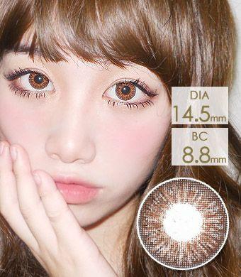 【1年カラコン】Tri color Ardor Brown / 1140</BR>DIA:14.5mm, 度あり‐10.00まで