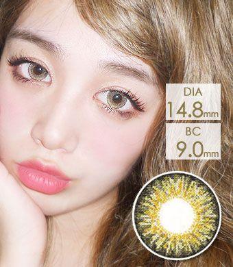 【1年カラコン】Sweet Big C type Hazel / 1143</BR>DIA:14.8mm, 度あり‐10.00まで