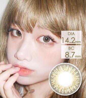 【3ヶ月カラコン】Elegance Hazel / 1152</BR>DIA:14.2mm, 度あり‐10.00まで