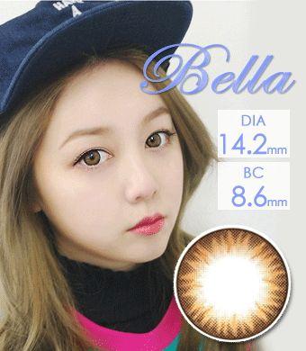 【1年カラコン】Bella Brown / 1236</br>DIA:14.2mm, 度あり‐8.00まで
