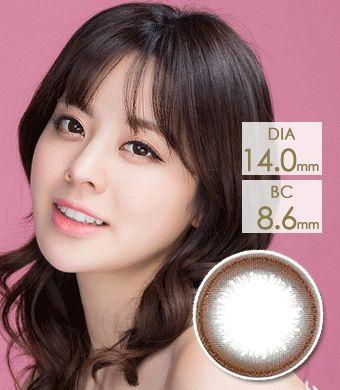 【1年カラコン】Diamant chaming brown / 1148</br>DIA:14.5mm, 度あり‐10.00まで