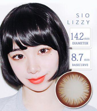 【1年カラコン】 Lizzy mocha / 1238</br>DIA:14.2mm, 度あり‐10.00まで