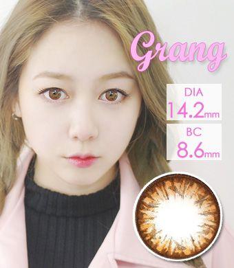 【1年カラコン】Grang Grang (HC244) Brown /1239</br>DIA:14.2mm, 度あり‐8.00まで