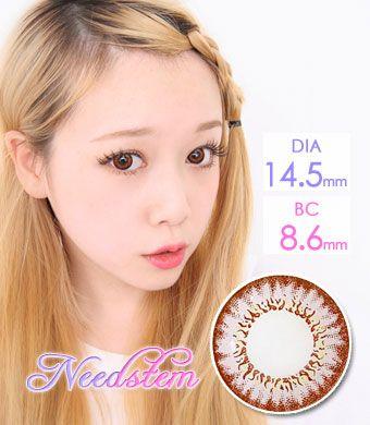 【1年カラコン】 Needstem Pink / 1260</br>DIA:14.5mm, 度あり‐12.00まで