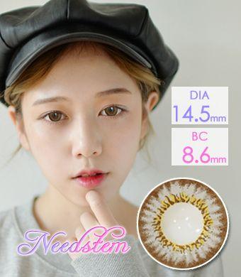 【遠視/12ヶ月カラコン】Needstem Gray / 1310</br> DIA:14.5mm, 度あり+4.00まで