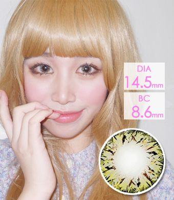【遠視/12ヶ月カラコン】VILLEA Brown / 1313</br> DIA:14.5mm, 度あり+4.00まで