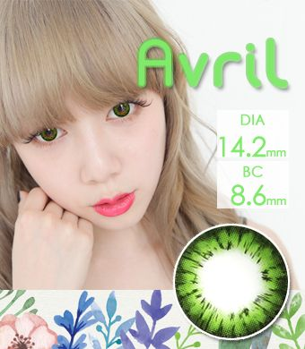 【乱視/12ヶ月カラコン】Avril (A132) Green toric / 1273 </br> DIA:14.2mm, G.DIA:13.7mm