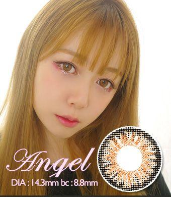 【1年カラコン】Angel Brown / 1342</BR>DIA:14.3mm, 度あり‐10.00まで