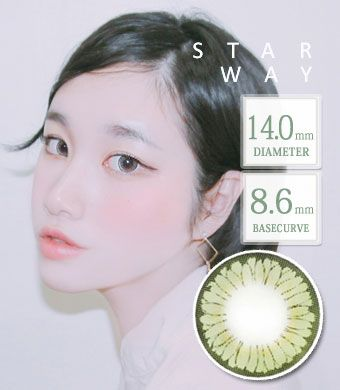 【乱視/12ヶ月カラコン】 STARWAY Green toric / 1378</br>DIA:14.0mm, G.DIA:13.2mm