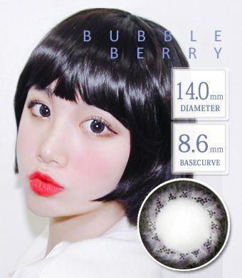 【1年カラコン】 Bubbleberry Gray / 1357</BR>DIA:14.0mm, 度あり‐10.00まで