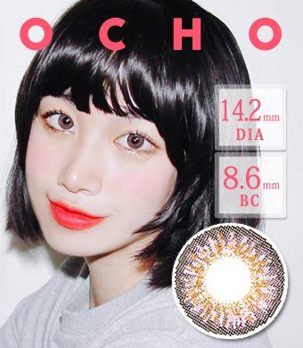 【1ヶ月カラコン/シリコンハイドロゲル】 OCHO PINK Silicon Hydrogel / 1417 </BR>DIA:14.2mm, 度あり‐8.00まで