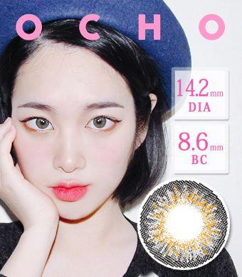 【遠視/6ヶ月カラコン】 OCHO GRAY /1423 </BR>DIA:14.2mm, 度あり+4.00まで
