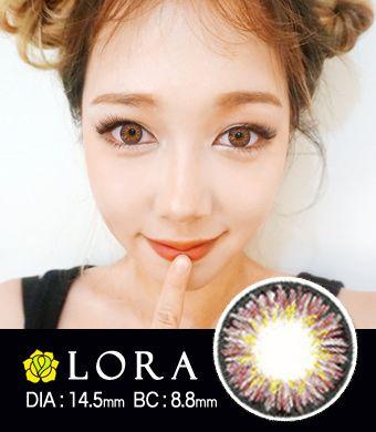 【1年カラコン】Lora MS Hazel / 1449 </BR>DIA:14.5mm, 度あり‐10.00まで