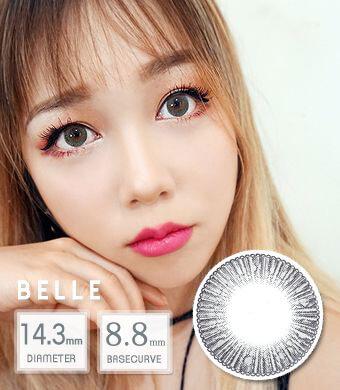 【12ヶ月カラコン】 Belle gray /1439 </BR>DIA:14.3mm, 度あり‐8.00まで