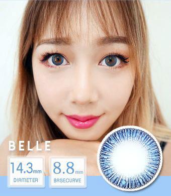 【12ヶ月カラコン】 Belle blue /1441 </br>DIA:14.3mm, 度あり‐8.00まで