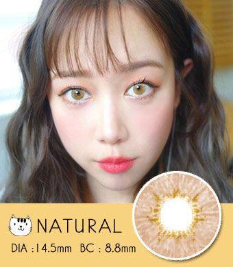 【3ヶ月カラコン】 Natural Honey / 1452</BR>DIA:14.5mm, 度あり‐10.00まで